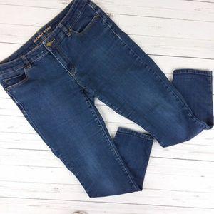 Michael Kors Ankle Skinny Jeans Dark Wash Stretch